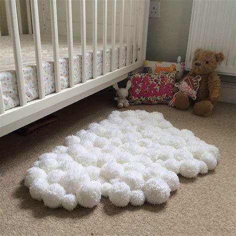 winding  bobbin  pom pom cloud rug  childs bedroom diy