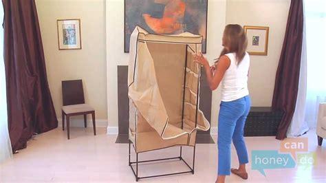 honey can do wrd 01270 27 inch portable storage wardrobe
