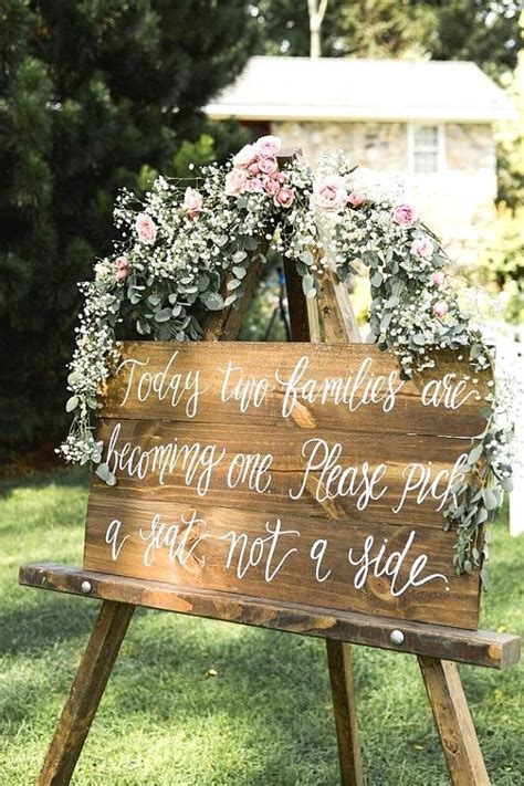 Rustic Wedding Seating Sign Pick A Seat Not A Side Sign