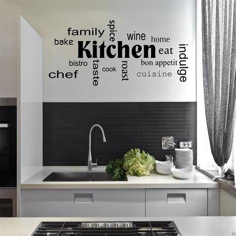 stickers phrase cuisine cuisine mots phrases sticker mural citation sticker