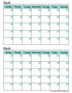 7 best images of 2 month calendar template printable With 2 month calendar template 2014