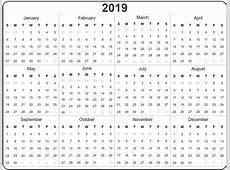Full Year Calendar 2019 Excel Task Management Template