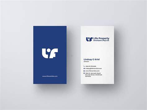 business card design  life property developers