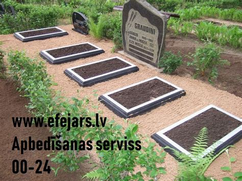 kapu labiekārtošana apzaļumošana, kapa vietu ierīkošana ...