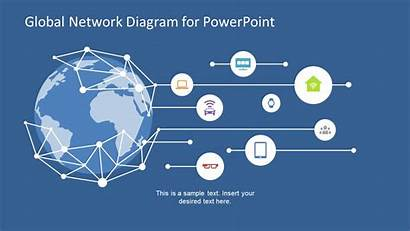 Network Powerpoint Global Concept Diagram Templates Technology