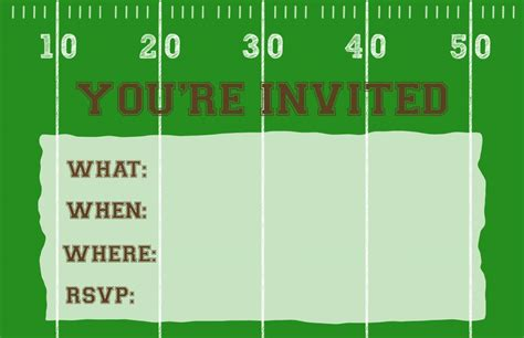 Football Party Invitation Template {Free Printable ...