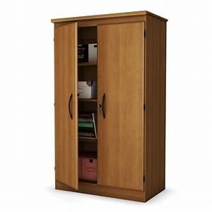 South, Shore, Morgan, Collection, Storage, Cabinet, Morgan, Cherry, -, Home