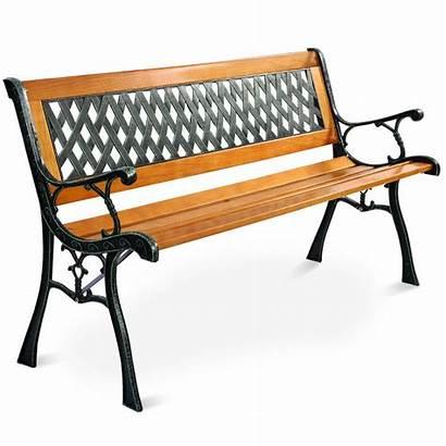 Bench Iron Cast Garden Patio Wood Outdoor