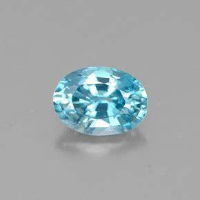 light blue gemstone 1 3 carat oval 7 1x5 1mm zircon gemstone