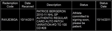 where in the world is patrice bergeron puck junk