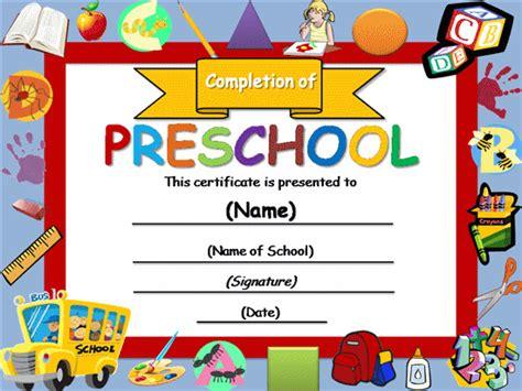 preschool diploma template free certificate templates templates certificates preschool completion certificate academic