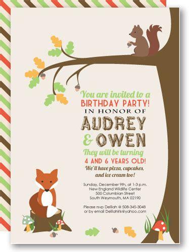 woodland invitations printable template  kit