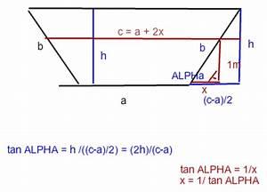 Tan Alpha Berechnen : trigonometrie trigonometrie die gr ben sind 1 50 m tief oben 1 35 m breit und unten an der ~ Themetempest.com Abrechnung