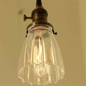 Pendant Lighting With Vintage Clear Glass And Exposed