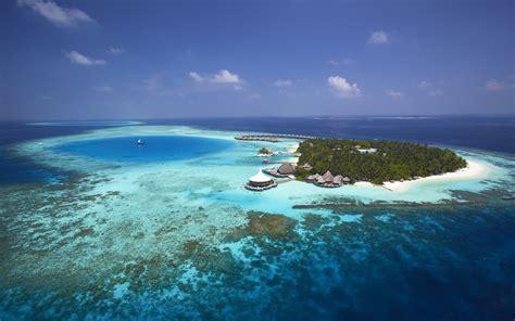 baros maldives luxury resort aerial view photo desktop