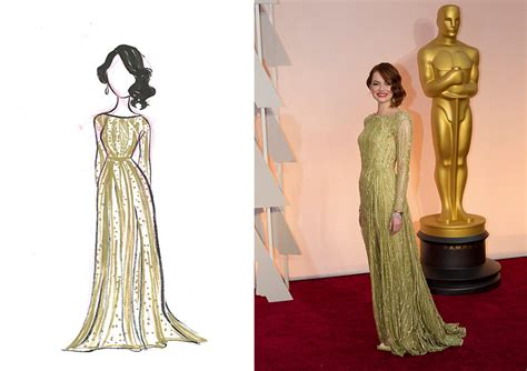 Red Carpet Recap Our Live Sketches From The Oscars