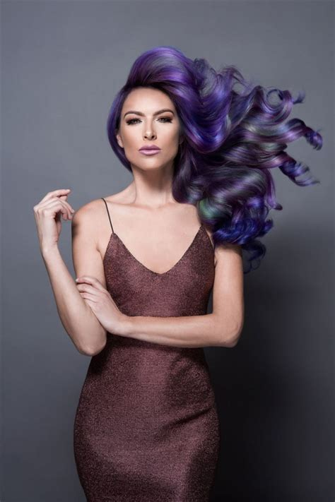 jazz   hair  oil slick effect women fitness