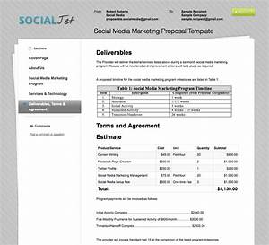 free social media proposal template one piece With social media rfp template
