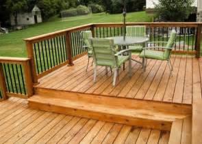 Cedar Wood Deck Designs