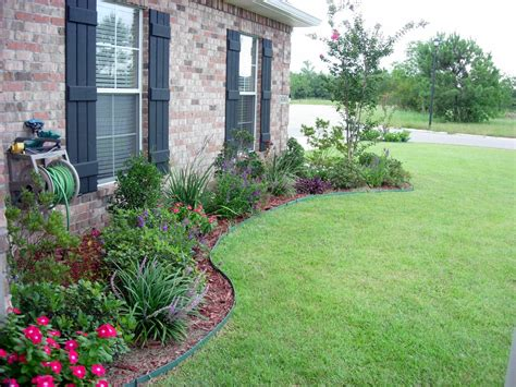Simple Flower Bed Ideas Designs For Front Of House Use