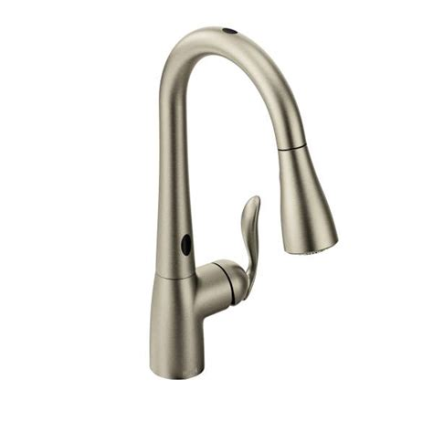 arbor kitchen faucet 7594esrs moen arbor series motionsense pull down kitchen faucet spot resist stainless