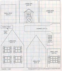 Printable Gingerbread House Patterns