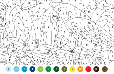 Coloring With Number by Animals Colouring By Numbers Free Pattern