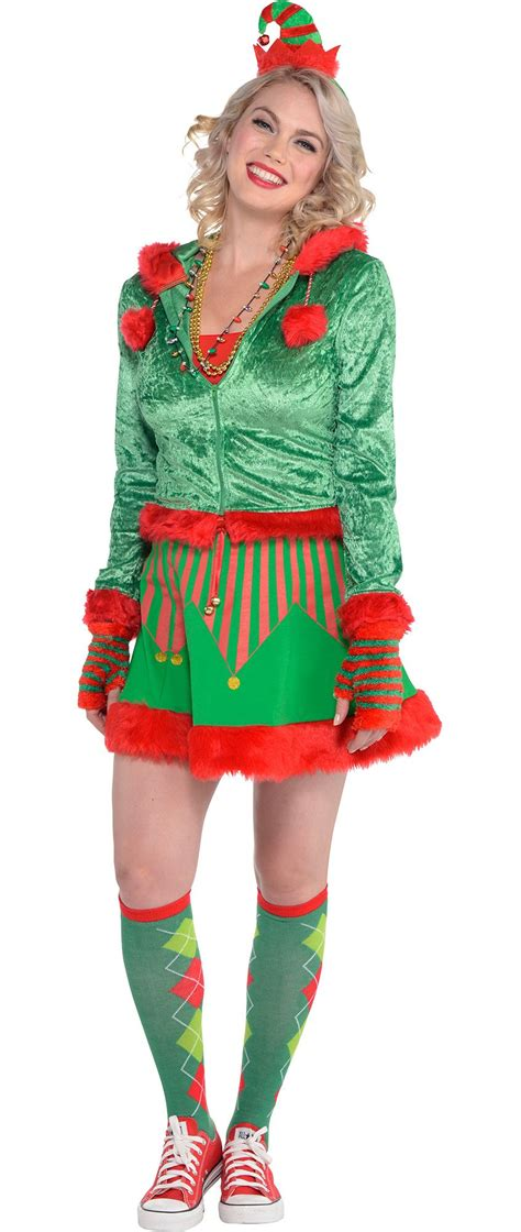 women s elf christmas costume accessories party city canada