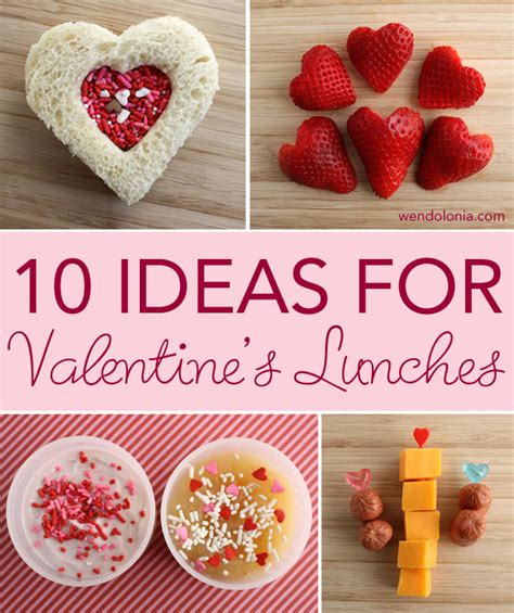 ideas for valentines day 10 ideas for valentine s day lunches wendolonia