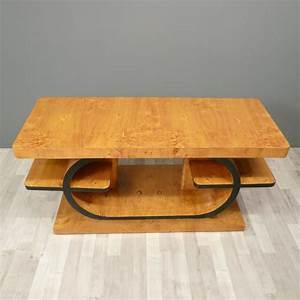 Table Basse Art Deco : table art d co en loupe d 39 orme meubles art d co ~ Teatrodelosmanantiales.com Idées de Décoration