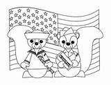 Coloring Veterans Uniform Chipmunks Celebrating sketch template