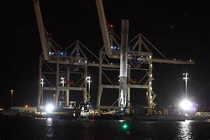 SpaceX's Falcon 9 rocket returns to port – Spaceflight Now