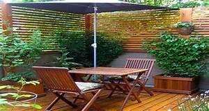 idee deco terrasse amenagement avec bois et plantes With idee amenagement terrasse bois