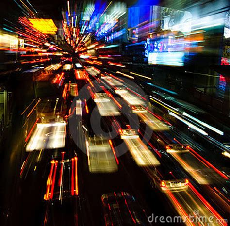 traffic lights  motion blur stock image image