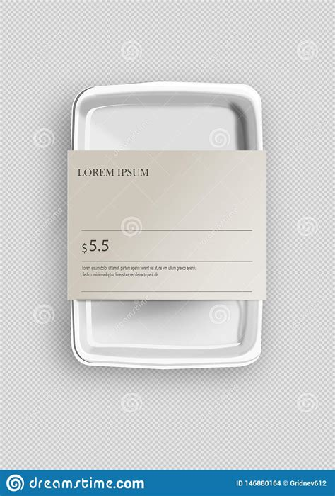 Round transparent container packaging wrap mockups. White Mockup Empty Blank Styrofoam Plastic Food Tray ...
