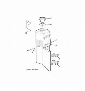 Hot  U0026 Cold Water Dispenser Diagram  U0026 Parts List For Model Gxcf25fbs Ge