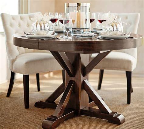 pottery barn kirkwood dining table benchwright extending pedestal dining table alfresco