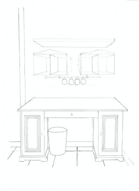 dessin de bureau home staging projet déco et organisation d un bureau et