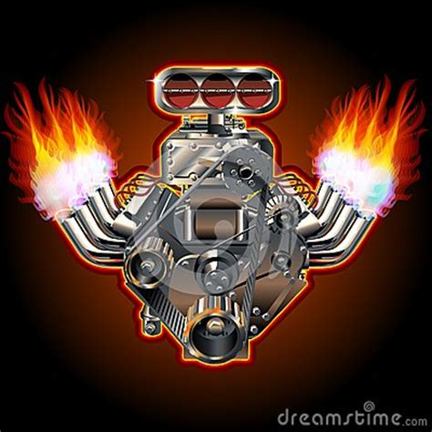 vector cartoon turbo engine stock images image