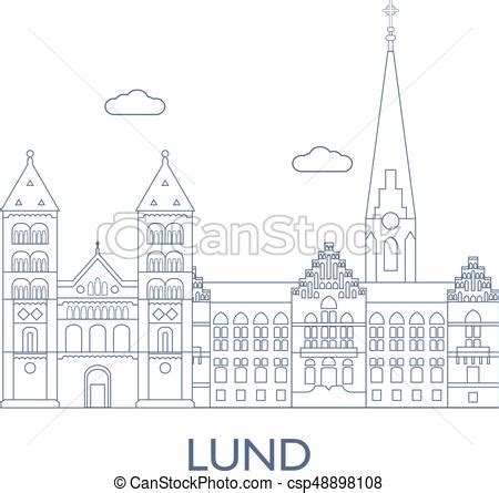 Lund Boats Vector Logo by Lund The Most Buildings Of The City Lund Sweden