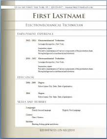 free resume templates microsoft word free cv templates 72 to 78 free cv template dot org