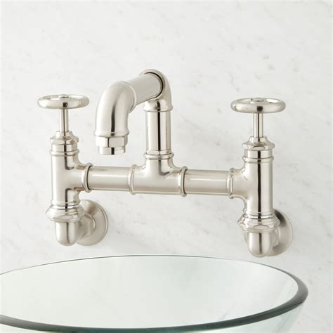 Mountain Faucets by Watts Wall Mount Bridge Bathroom Faucet Bathroom