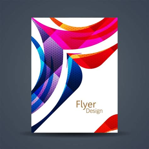 Colorful Corporate Business Flyer Template Psd File Free Abstract Colorful Flyer Template Vector Free