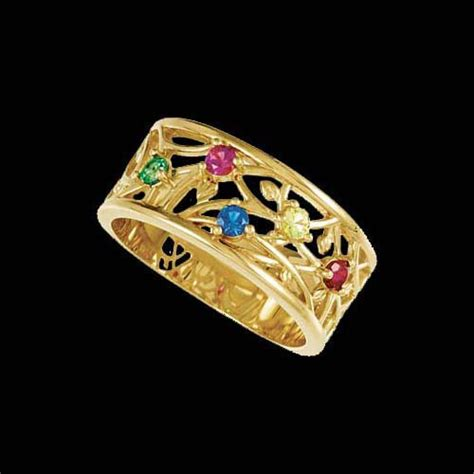 rosella floral band mothers ring