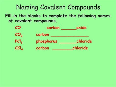 Naming Compound Diagram by Ppt Covalent Bonding Powerpoint Presentation Id 5648526