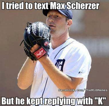 Funny Mlb Memes - strikeouts are fine on the field not on text messages mlb memes tigers by the toe