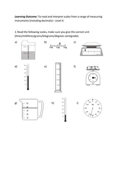 worksheet works reading scales kidz activities