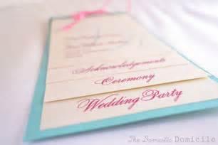paper fan wedding programs diy multi layer wedding programs weddingbee photo gallery