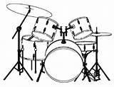 Drums Coloring Template Musical Majestic Para Sketch Instrumentos Musicais Salvo sketch template