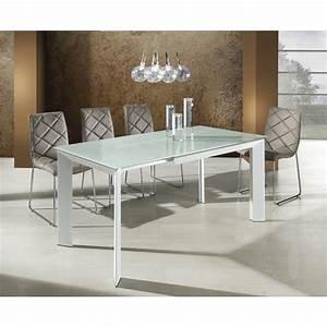 tavolo allungabile metallo e vetro bianco per soggiorno With tavolo bianco moderno